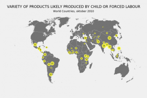 number of products produced by child or forced labour