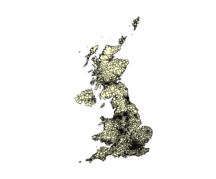 UK Postcode Districts 2015 (2969 regions)